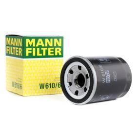 W 610/6 MANN-FILTER mit einem Rücklaufsperrventil Innendurchmesser 2: 55mm, Ø: 66mm, Außendurchmesser 2: 62mm, Höhe: 90mm Ölfilter W 610/6 günstig kaufen