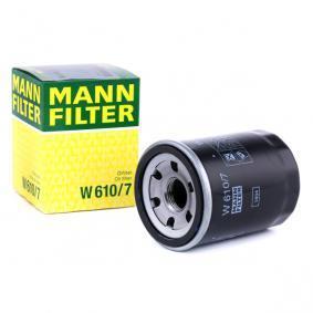 W 610/7 MANN-FILTER mit einem Rücklaufsperrventil Innendurchmesser 2: 55mm, Ø: 66mm, Außendurchmesser 2: 62mm, Höhe: 90mm Ölfilter W 610/7 günstig kaufen