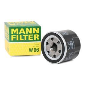 W 66 MANN-FILTER Innendurchmesser 2: 54mm, Ø: 66mm, Außendurchmesser 2: 62mm, Höhe: 60mm Ölfilter W 66 günstig kaufen
