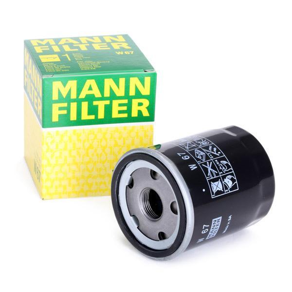 W67 Motorölfilter MANN-FILTER W 67 - Große Auswahl - stark reduziert