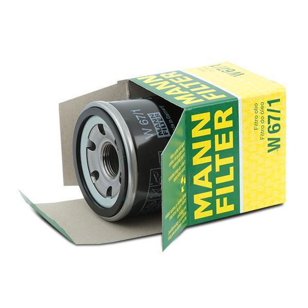 W 67/1 Oliefilter MANN-FILTER original kvalitet