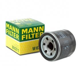 W671 Ölfilter MANN-FILTER W 67/1 - Große Auswahl - stark reduziert