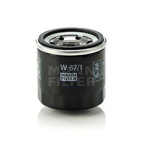 MANN-FILTER   Filtro olio W 67/1