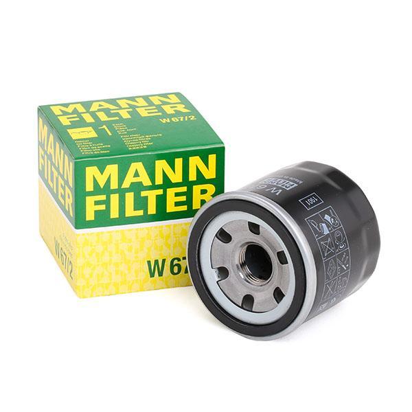 Origine Filtre à huile MANN-FILTER W 67/2 (Diamètre intérieur 2: 54mm, Diamètre intérieur 2: 54mm, Ø: 66mm, Diamètre extérieur 2: 62mm, Hauteur: 65mm)