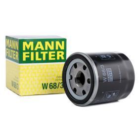 Osta W 68/3 MANN-FILTER koos ühe tagasijooksu sulgurklapiga Siseläbimõõt 2: 55mm, Ų: 66mm, Välisläbimõõt 2: 62mm, Kõrgus: 75mm Õlifilter W 68/3 madala hinnaga