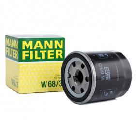 Pirkti W 68/3 MANN-FILTER su vienu negrįžtamo srauto vožtuvu vidinis skersmuo 2: 55mm, Ø: 66mm, 2 išorinis skersmuo: 62mm, aukštis: 75mm Alyvos filtras W 68/3 nebrangu