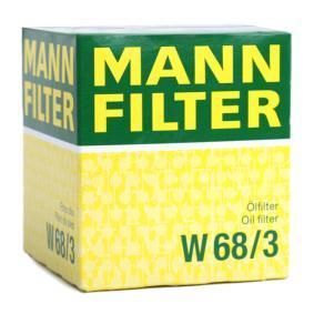 W68/3 Olajszűrő MANN-FILTER - Tapasztalja meg engedményes árainkat