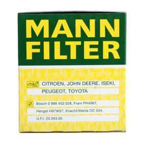 W 68/3 Õlifilter MANN-FILTER originaal kvaliteediga