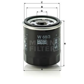 W 68/3 Alyvos filtras MANN-FILTER Test