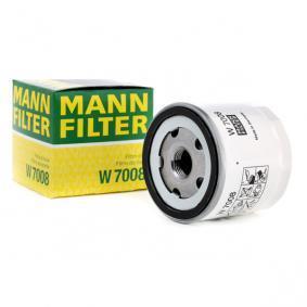 W 7008 MANN-FILTER mit einem Rücklaufsperrventil Innendurchmesser 2: 63mm, Ø: 76mm, Außendurchmesser 2: 72mm, Höhe: 75mm Ölfilter W 7008 günstig kaufen