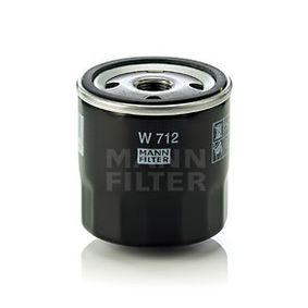 W712 Oljefilter MANN-FILTER - Upplev rabatterade priser