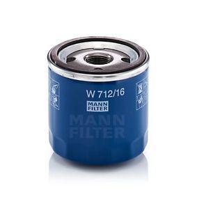 W 712/16 Filtro olio MANN-FILTER prodotti di marca a buon mercato