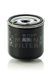 MANN-FILTER: Original Motorölfilter W 712/21 (Innendurchmesser 2: 62mm, Innendurchmesser 2: 62mm, Ø: 76mm, Außendurchmesser 2: 71mm, Höhe: 80mm)