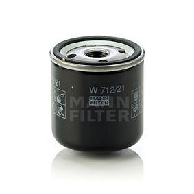 W 712/21 MANN-FILTER mit einem Rücklaufsperrventil Innendurchmesser 2: 62mm, Ø: 76mm, Außendurchmesser 2: 71mm, Höhe: 80mm Ölfilter W 712/21 günstig kaufen