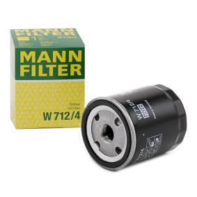 W 712/4 MANN-FILTER mit einem Rücklaufsperrventil Innendurchmesser 2: 62mm, Ø: 76mm, Außendurchmesser 2: 71mm, Höhe: 93mm Ölfilter W 712/4 günstig kaufen