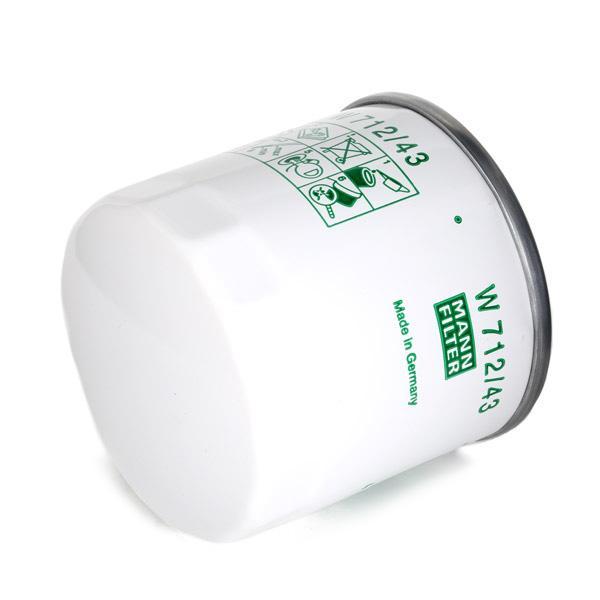 Eļļas filtrs W 712/43 par TOYOTA zemas cenas - Iepirkties tagad!