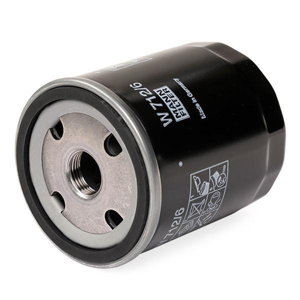 W7126 Motorölfilter MANN-FILTER W 712/6 - Große Auswahl - stark reduziert