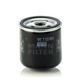 W 712/80 Oljefilter MANN-FILTER - Billiga märkesvaror