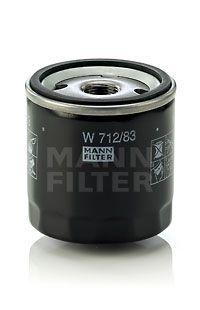 W 712/83 Alyvos filtras MANN-FILTER Test