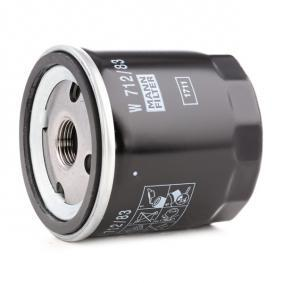 W71283 Alyvos filtras MANN-FILTER W 712/83 Platus pasirinkimas — didelės nuolaidos