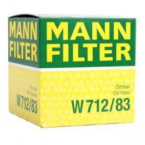 W 712/83 Alyvos filtras MANN-FILTER - Sumažintų kainų patirtis