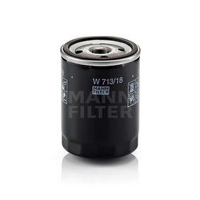 W 713/18 MANN-FILTER Innerdiameter 2: 62mm, Ø: 76mm, Ytterdiameter 2: 71mm, H: 100mm Oljefilter W 713/18 köp lågt pris