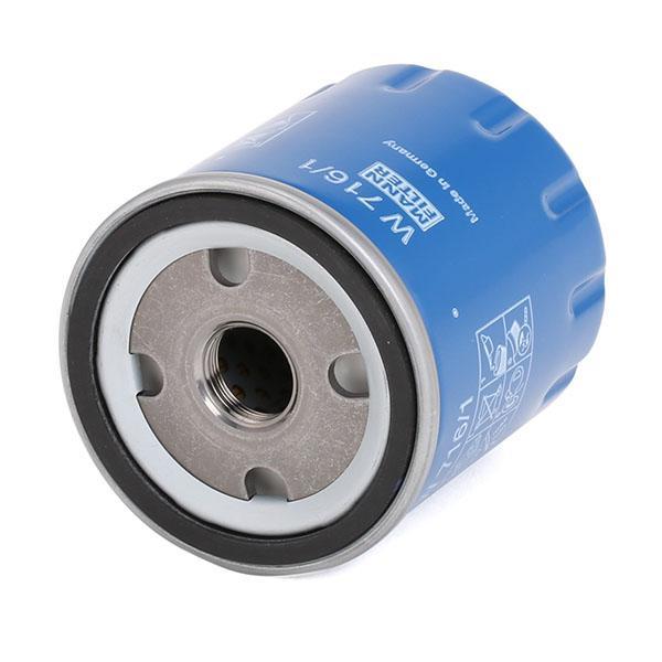 W 716/1 Filtro de aceite motor MANN-FILTER - Productos de marca económicos