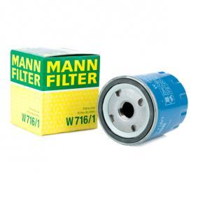 Vesz W 716/1 MANN-FILTER egy visszafolyó záró szeleppel Belső átmérő 2: 62mm, Ø: 76mm, Külső átmérő 2: 71mm, Magasság: 89mm Olajszűrő W 716/1 alacsony áron
