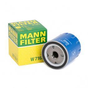 W7161 Olajszűrő MANN-FILTER W 716/1 Hatalmas választék - hatalmas kedvezménnyel