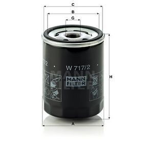 Oil Filter W 717/2 for ALFA ROMEO ARNA at a discount — buy now!