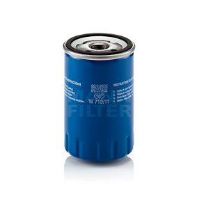 W 719/11 MANN-FILTER Innendurchmesser 2: 62mm, Ø: 76mm, Außendurchmesser 2: 71mm, Höhe: 119mm Ölfilter W 719/11