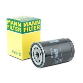 W 719/30 MANN-FILTER mit einem Rücklaufsperrventil Innendurchmesser 2: 62mm, Ø: 76mm, Außendurchmesser 2: 71mm, Höhe: 123mm Ölfilter W 719/30 günstig kaufen