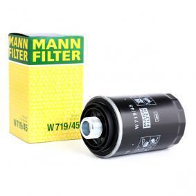 W 719/45 MANN-FILTER mit zwei Rücklaufsperrventilen Innendurchmesser 2: 62mm, Innendurchmesser 2: 71mm, Ø: 76mm, Höhe: 143mm Ölfilter W 719/45 günstig kaufen