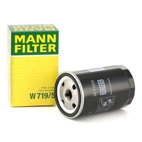 Osta W 719/5 MANN-FILTER koos ühe tagasijooksu sulgurklapiga Siseläbimõõt 2: 62mm, Ų: 76mm, Välisläbimõõt 2: 71mm, Kõrgus: 123mm Õlifilter W 719/5 madala hinnaga