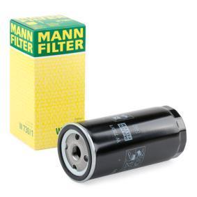 Купете MANN-FILTER с един възвратен клапан вътрешен диаметър 2: 62мм, Ø: 76мм, външен диаметър 2: 71мм, височина: 170мм Маслен филтър W 730/1 евтино