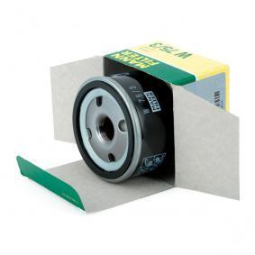 W753 Alyvos filtras MANN-FILTER W 75/3 Platus pasirinkimas — didelės nuolaidos