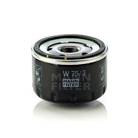 W 75/3 Filtro de aceite MANN-FILTER calidad original