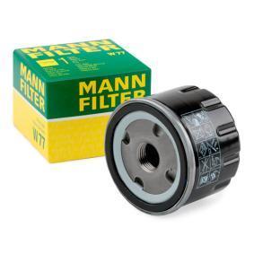 Купете MANN-FILTER с един възвратен клапан вътрешен диаметър 2: 62мм, Ø: 76мм, външен диаметър 2: 71мм, височина: 59мм Маслен филтър W 77 евтино