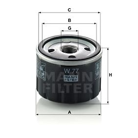 W 77 Маслен филтър MANN-FILTER - на по-ниски цени