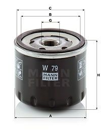 W 79 Filtre à huile MANN-FILTER originales de qualité