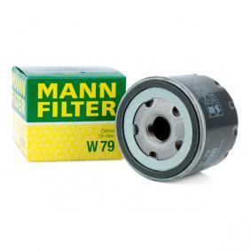 Achat de W 79 MANN-FILTER avec un clapet de non retour Diamètre intérieur 2: 62mm, Ø: 76mm, Diamètre extérieur 2: 71mm, Hauteur: 64mm Filtre à huile W 79 pas chères