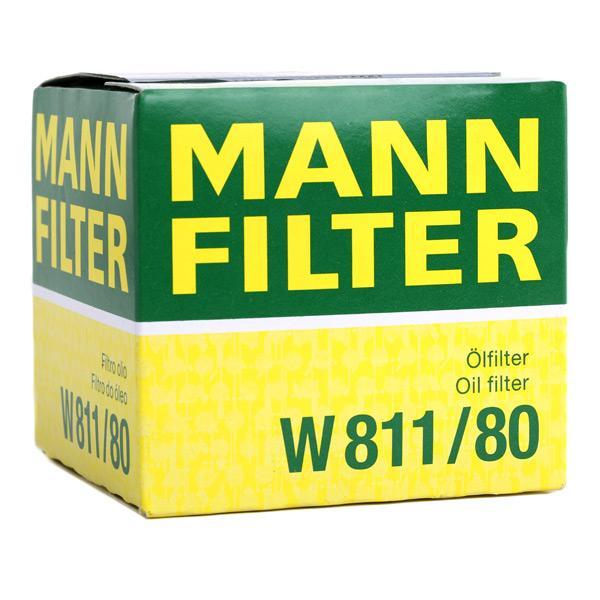 W 811/80 Oliefilter MANN-FILTER originele kwaliteit