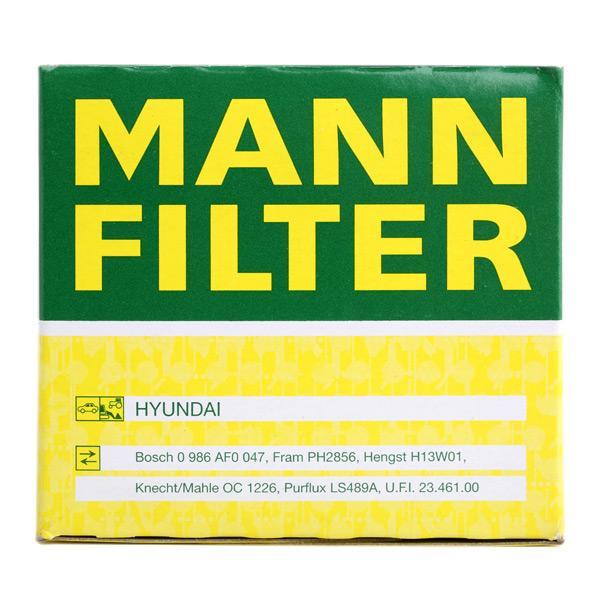W 811/80 Olejový filter MANN-FILTER Test