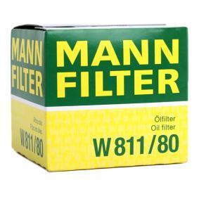 """W811/80 Filtre à huile MANN-FILTER - L""""expérience à prix réduits"""
