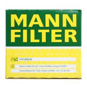 W 811/80 Oljefilter MANN-FILTER originalkvalite