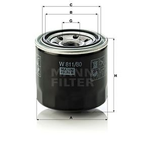 W 811/80 Olajszűrő MANN-FILTER Test