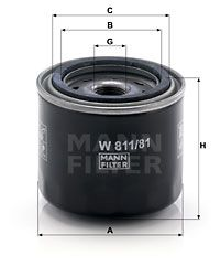 Original Alyvos filtras W 811/81 Suzuki