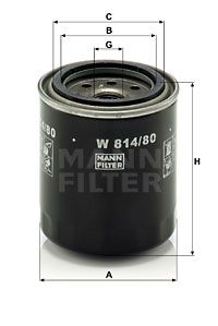 W814/80 Oil Filter MANN-FILTER - Experience and discount prices
