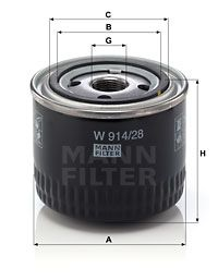 W914/28 Oil Filter MANN-FILTER - Experience and discount prices