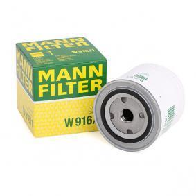 W 916/1 MANN-FILTER med en backsperrventil Innerdiameter 2: 62mm, Ø: 93mm, Ytterdiameter 2: 71mm, H: 95mm Oljefilter W 916/1 köp lågt pris